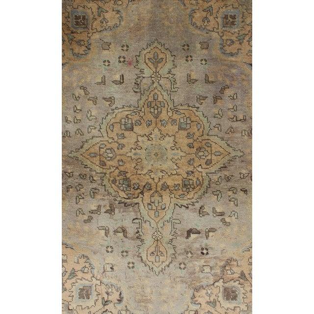 Islamic Semi Antique Tabriz Rug - 3′ × 4′9″ For Sale - Image 3 of 7