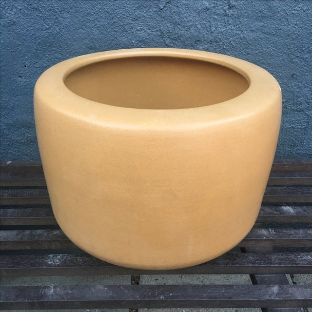 Architectural Pottery Small Gold Planter - Image 3 of 10