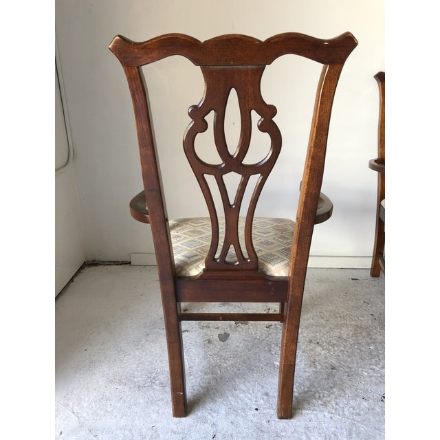 Thomasville Dining Chair Set (6) Fruitwood Excellent For Sale In New York - Image 6 of 9