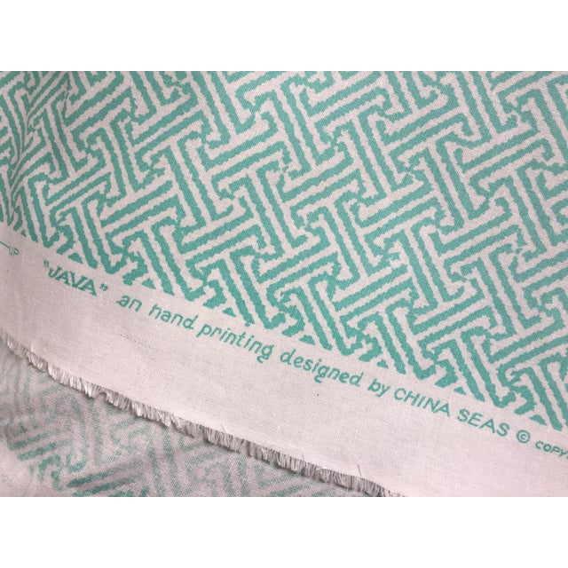 Java Java from Quadrille Fabric's China Seas collection. Custom aqua on custom ground. Perfect for a chair or roman shade....