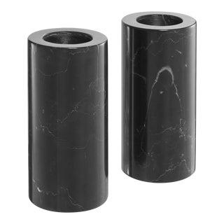 Black Marble Candle Holders 2 | Eichholtz Tobor L For Sale