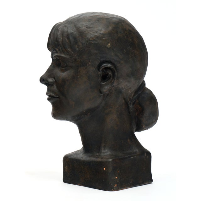 Metal French Terracotta Bust For Sale - Image 7 of 10