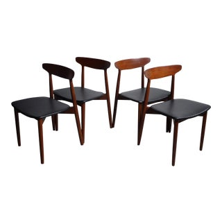 Teak Dining Chairs by Harry Ostergaard for Randers Møbelfabrik (Set of 4) For Sale