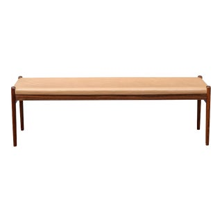 Scandinavian Modern Rosewood Bench by Niels Moller, Model 63 For Sale