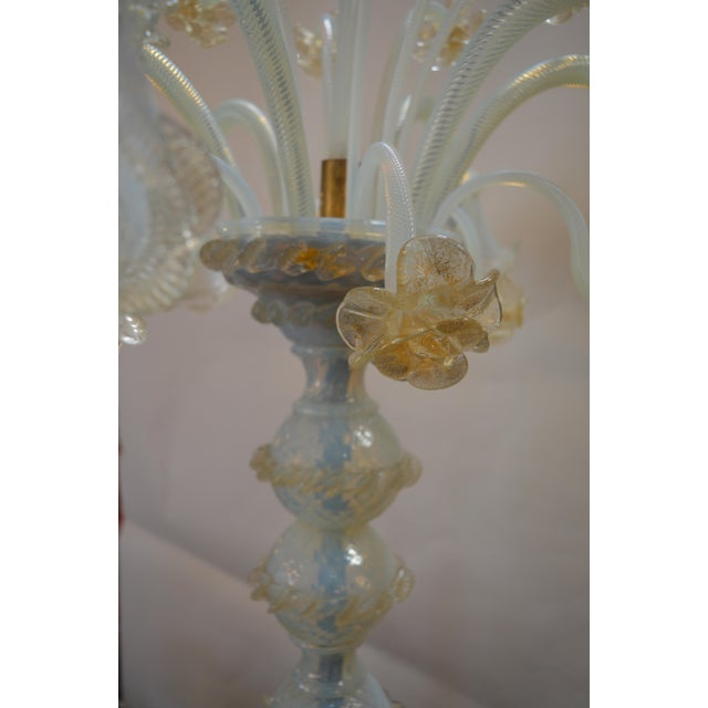 Murano Opaline Glass Floor Lamp For Sale In Los Angeles - Image 6 of 10