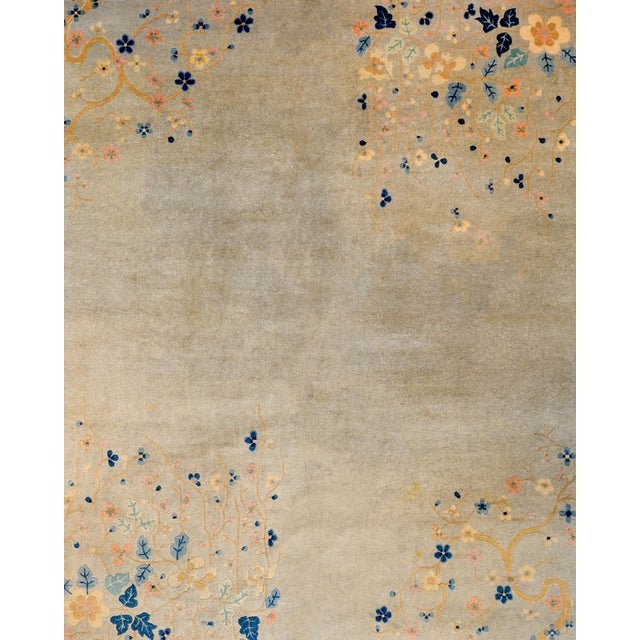 Art Deco Serene Chinese Art Deco Rug For Sale - Image 3 of 9
