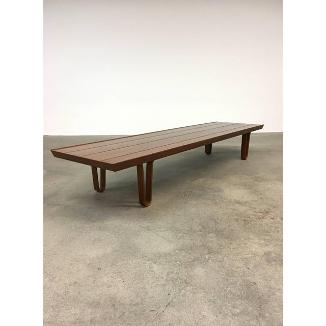 Mid-Century Modern Edward Wormley for Dunbar Long John Bench or Coffee Table For Sale - Image 3 of 8