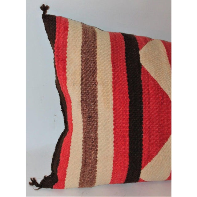 Navajo Saddle Blanket Bolster Pillows - Collection of 3 For Sale - Image 12 of 13
