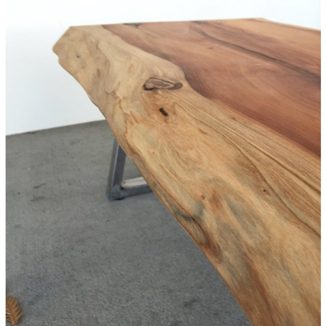Live Edge Redwood Slab Coffee Table - Image 4 of 6