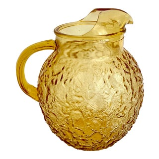 1960s Amber Ball Pitcher For Sale
