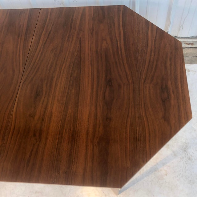 Wood Mid-Century Modern Dining Room Table With Leaf For Sale - Image 7 of 13