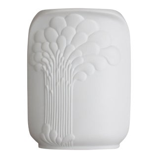 Kaiser Porcelain Op Art Relief Vase Signed M Frey For Sale