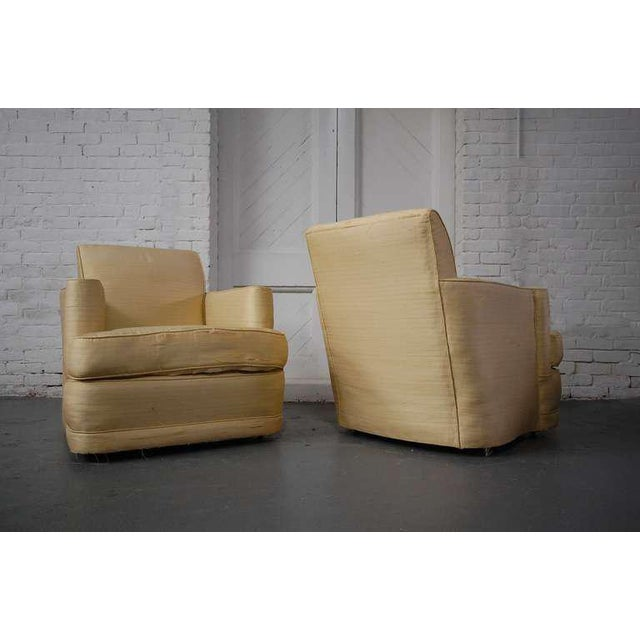Silk Fabulous Pair of Lounge Chairs For Sale - Image 7 of 10