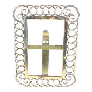 English Victorian Chain Link Photo Frame For Sale