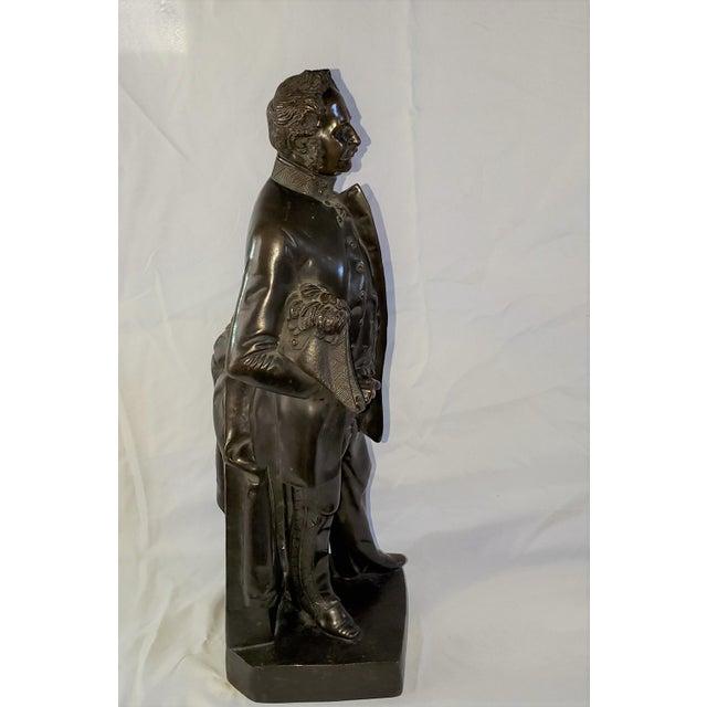 Figurative Franz Hogler, German Sculptor, Bronze Statue, Signed 1851 For Sale - Image 3 of 10
