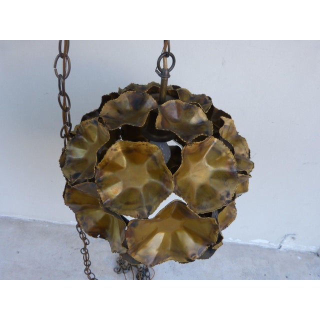 Geodesic Shape Torch Cut Tom Greene Feldman Chandelier For Sale - Image 11 of 11