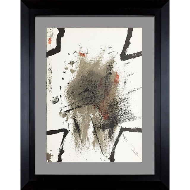 1969 Antoni Tapies Original Limited Edition Lithograph For Sale - Image 4 of 4