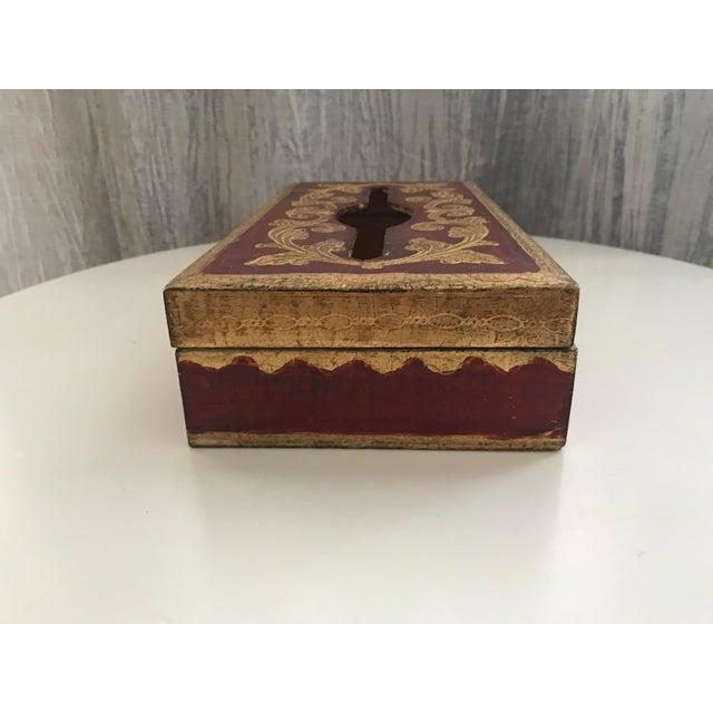 Vintage Italian Florentine Tissue Box - Image 4 of 5