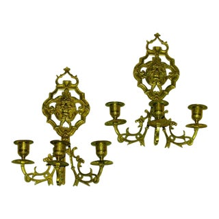 French Bronze Sconces - a Pair