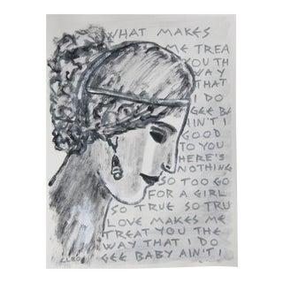 Greek Roman Goddess Portrait by Cleo Plwden For Sale
