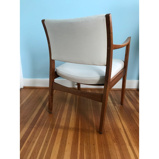 1960s Danish Modern Johnson Chair Co. Walnut Arm Chair For Sale - Image 9 of 11