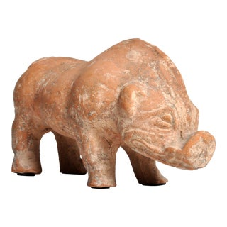 Antique Han Dynasty Figure of a Pig For Sale