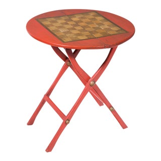 Red Coaching / Games Table For Sale