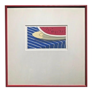 """Original 1987 Donna Jepsen-Minyard Signed """"The Slice Is Right"""" Serigraph 47/100 For Sale"""