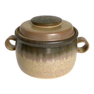 English Double Handled Lidded Pottery For Sale
