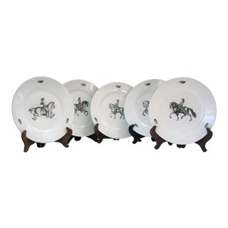 Chantilly for Tiffany French Cavalry Dessert /Salad Plates - Set of 5 For Sale