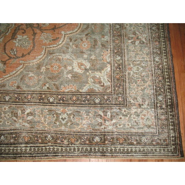 Shabby Chic Persian Tabriz Rug - 9′6″ × 12′8″ For Sale In New York - Image 6 of 7