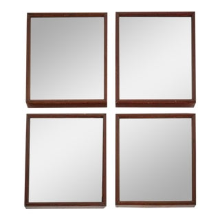 Mahogany Framed Mirrors With Aged Glass - Set of 4 For Sale