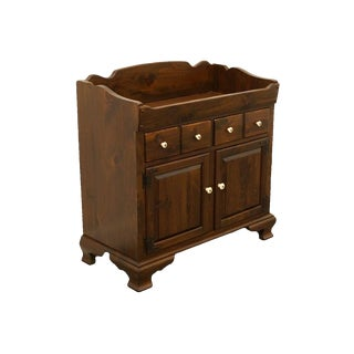 Mid Century Vintage Ethan Allen Antiqued Pine Old Tavern Dry Sink Buffet Server For Sale