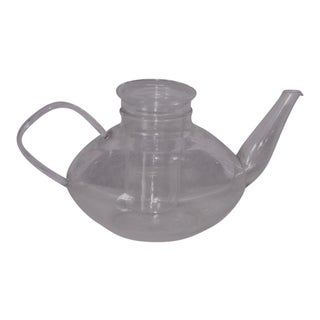 Mid Century Modern Schott Mainz Jena Glass Teapot With Infuser and Lid For Sale