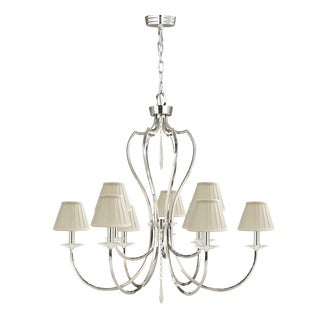 Pimlico 9lt Chandelier Polished Nickel