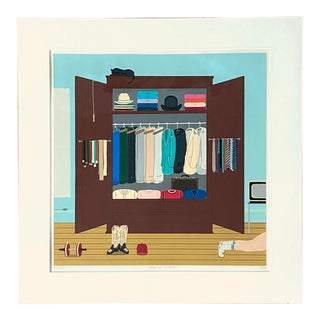 """Shigeo Oku Okumura """"Jimmy's Closet"""" Signed and Numbered Screen Print For Sale"""