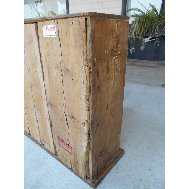 12 Drawer Pine Apothecary Cabinet For Sale In Los Angeles - Image 6 of 11