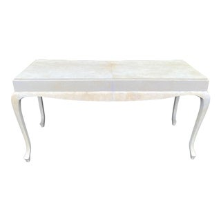 Scala Luxury Parchment Console Table For Sale