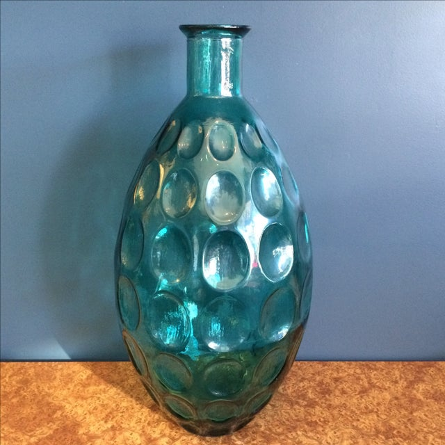 Large Turquoise Glass Vessel - Image 2 of 6