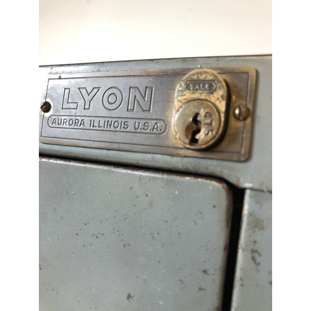 American Vintage Lyon Metal Products Steel File Cabinet For Sale - Image 3 of 12
