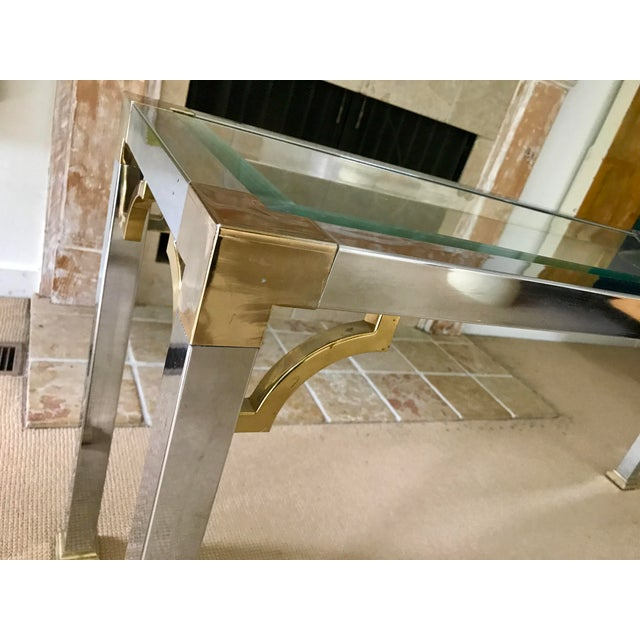 Mid Century Chrome and Glass Console / Sofa Table - Image 11 of 11