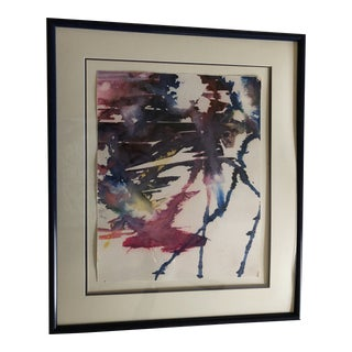 Abstract Watercolor Painting For Sale