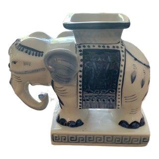 21st Century Vintage Porcelain Elephant Planter For Sale