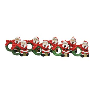 Santa Claus Bell Napkin Rings - Set of 8