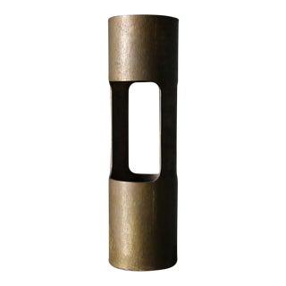 Hand Hammered Bronze Ikebana Vase Circa 1965 For Sale