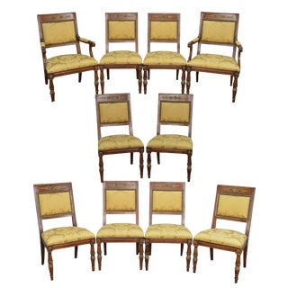 Henredon Grand Provenance French Louis XVI Style Dining Chairs - Set of 10