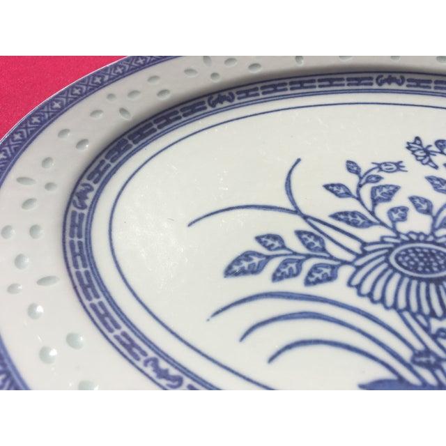 Vintage Blue & White Porcelain Platter - Image 3 of 5