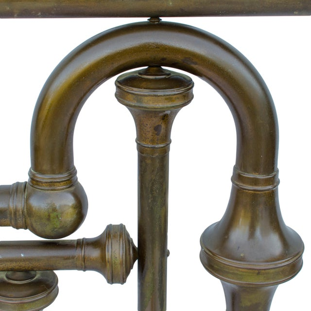 Gold 19th Century Brass Tuba Bed Frame For Sale - Image 8 of 11