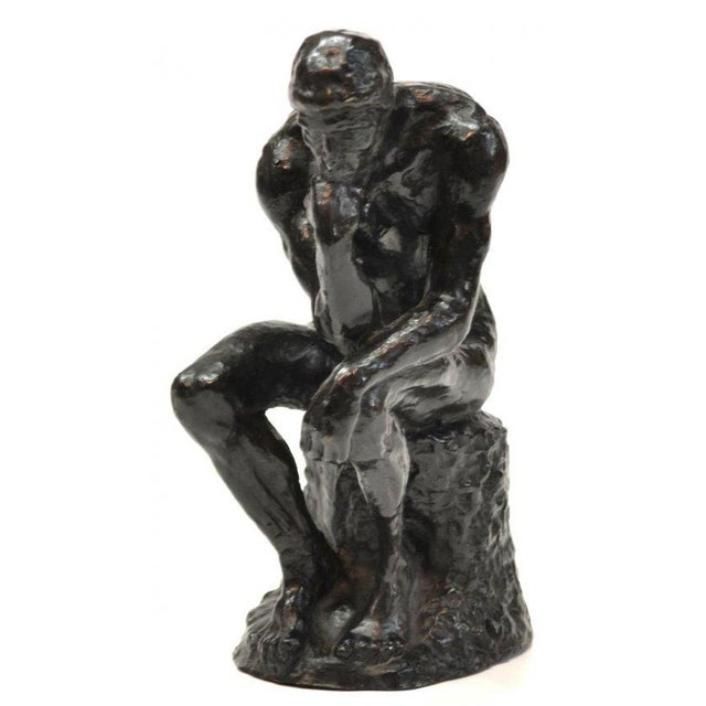 """The Thinker"" in Patinated Bronze - Image 1 of 3"