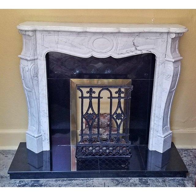 20c Irish White Marble Fireplace - Complete For Sale - Image 4 of 11